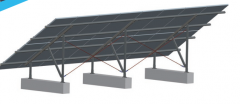 Steel ground mounting system